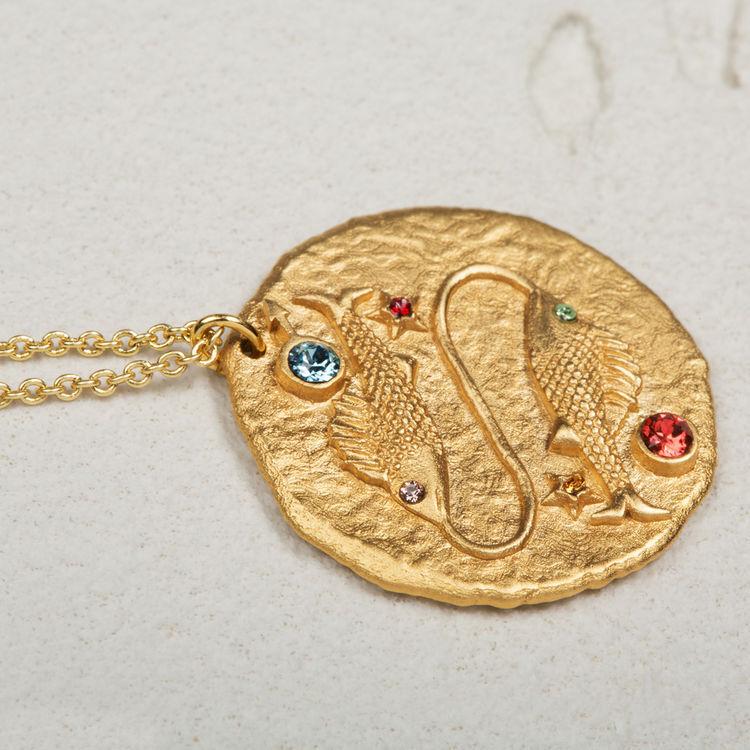 Collier Poisson signe du zodiaque : Tout voir couleur OR