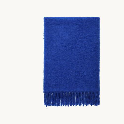 Écharpe épaisse en laine : Accessoires couleur Bleu
