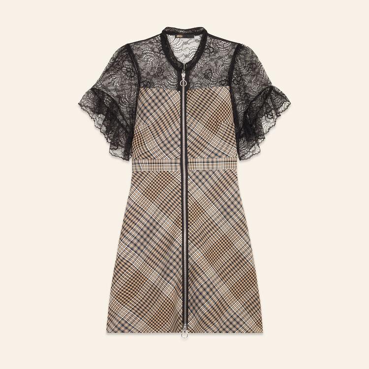 Robe courte bimatière : Robes couleur Jacquard