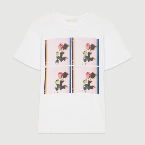 Printed T-shirt : T-Shirts color WHITE