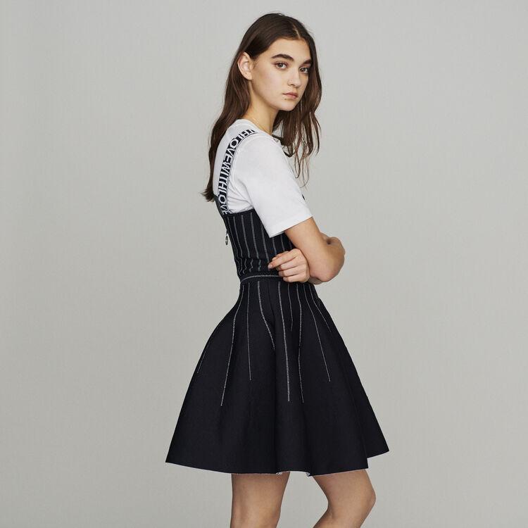 Robe courte à bretelles en maille : Robes couleur Black