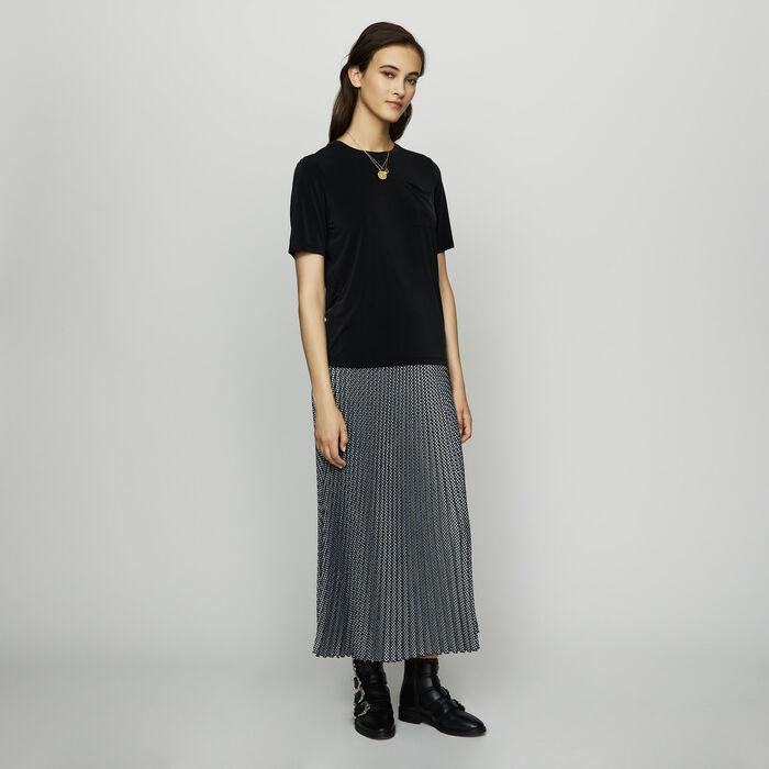 Tee-shirt en cupro : SoldesUK-All couleur Black