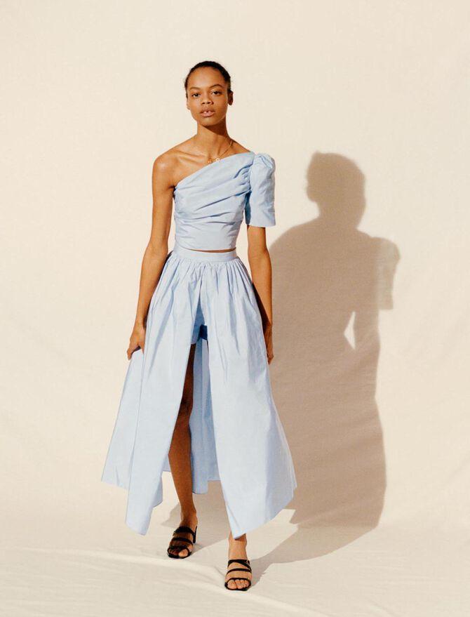Taffeta slip-style culottes -  - MAJE