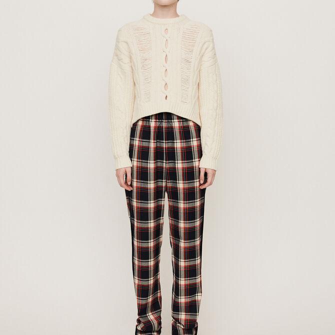 Elasticated plaid pants - staff private sale 20 - MAJE