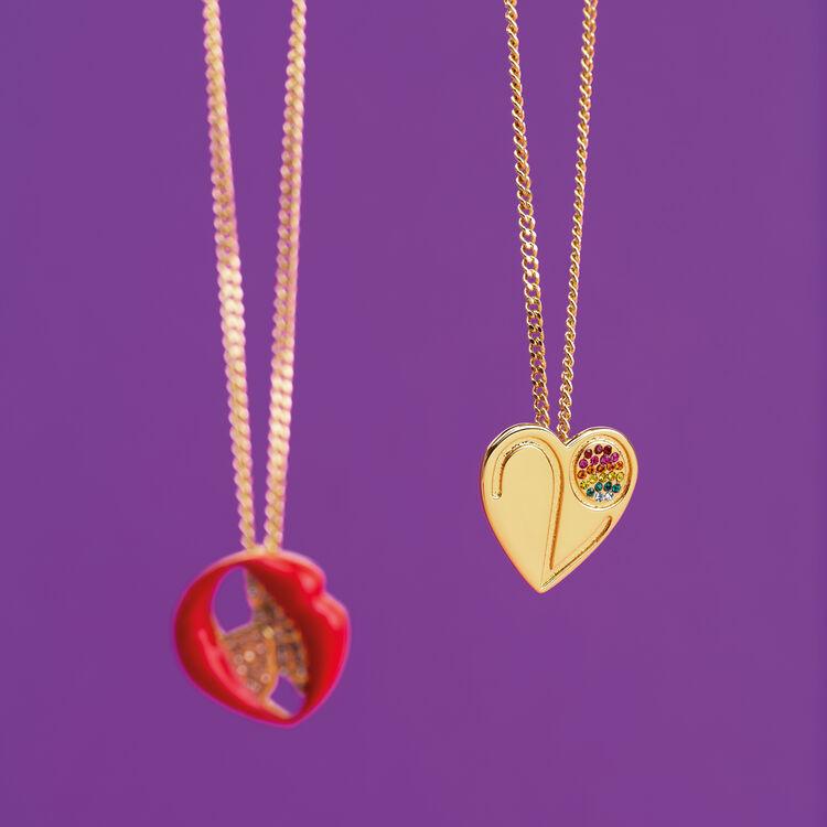 Collier avec médaillon cœur : Gadgets couleur OR