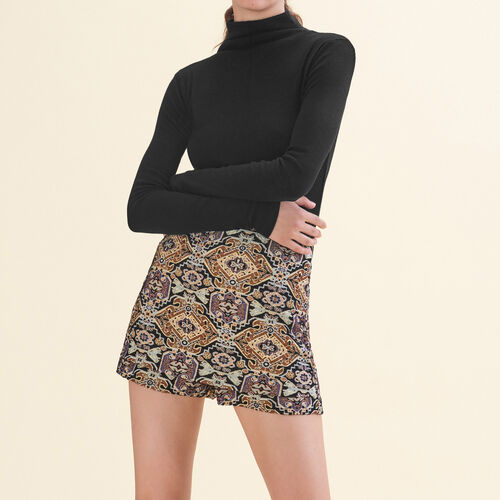 Short court en jacquard : Jupes & Shorts couleur Jacquard