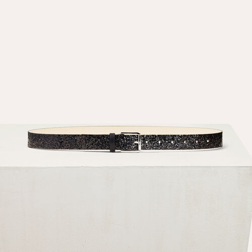 Sequinned belt : Belts color Black 210