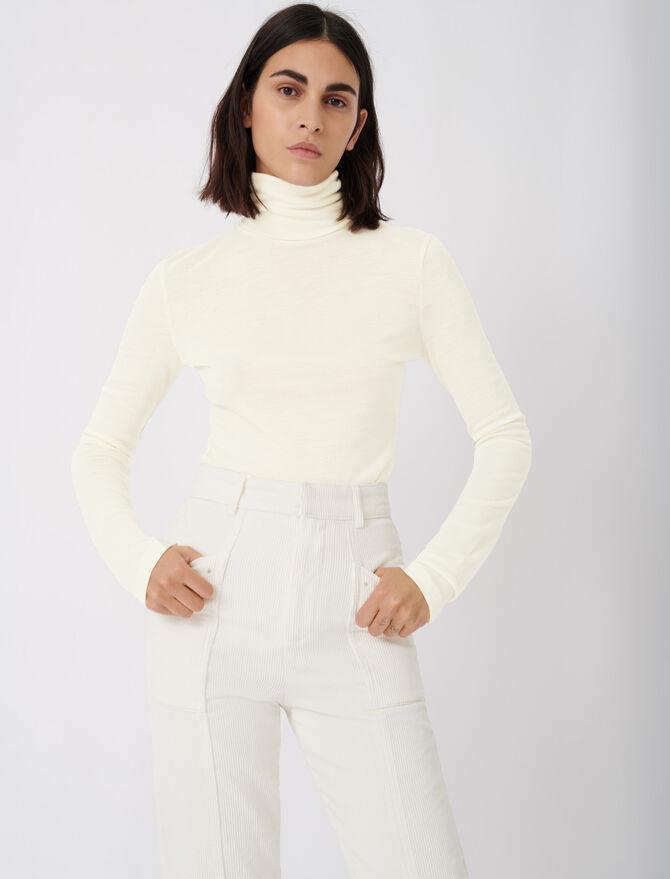 Tee shirt style under turtleneck sweater -  - MAJE