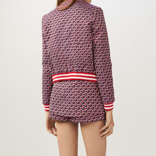 Cropped jacquard jacket : Jackets color Jacquard