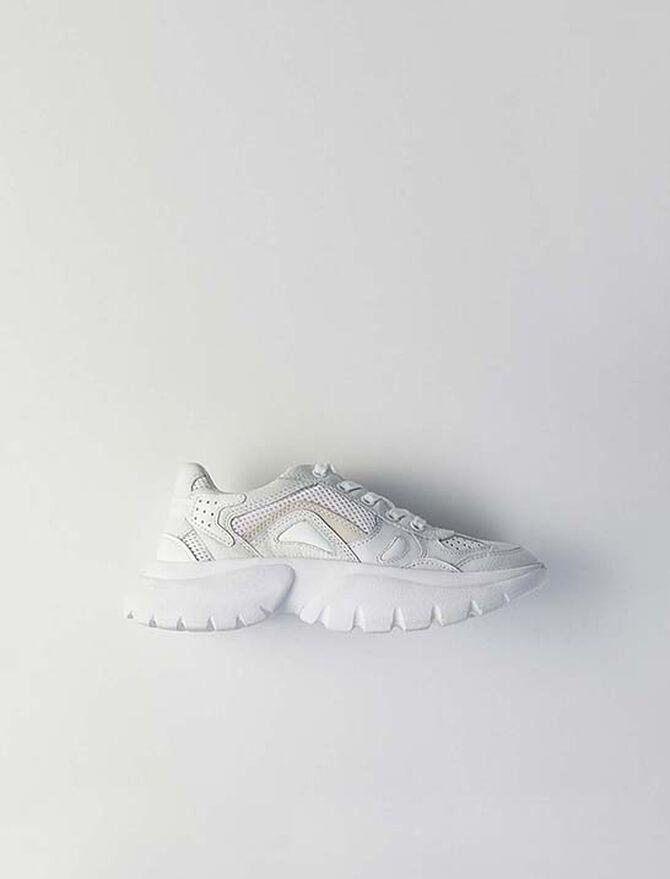 Sneakers W20 urbaines en cuir - Sneakers - MAJE