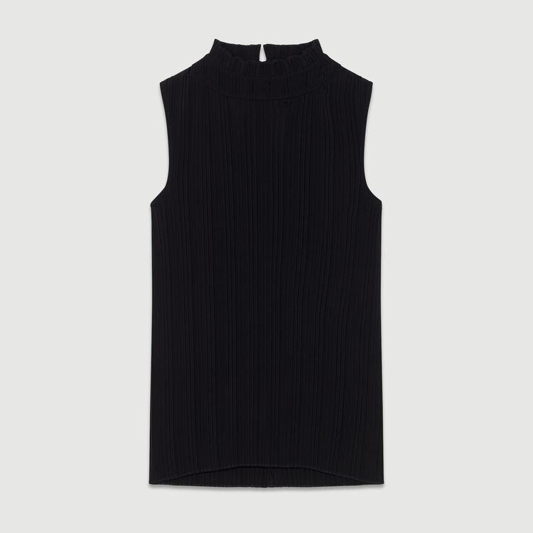 Top plissé sans manches : Tout voir couleur Black