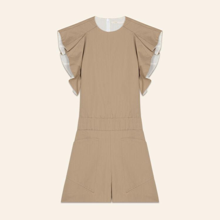 Combi-short en toile de coton : Tout voir couleur Beige