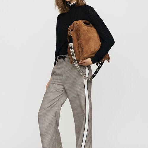 Pantalon élastiqué à carreaux : Office girl couleur CARREAUX