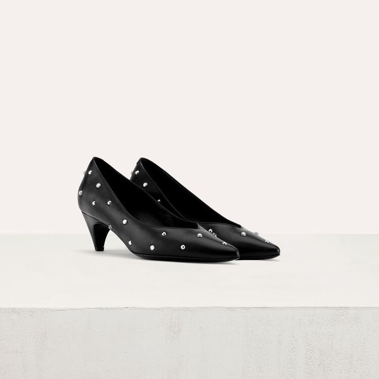 Escarpins strassés à petits talons : Chaussures couleur Black