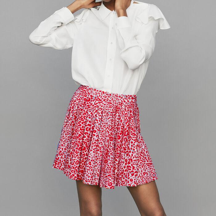 Jupe plissée à imprimé léopard : Jupes & Shorts couleur IMPRIME