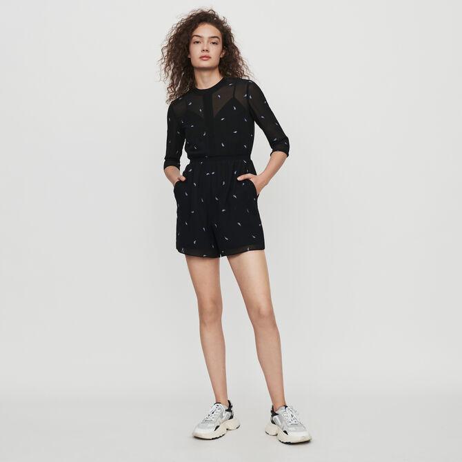 Cashmere embroidered playsuit - staff private sale 20 - MAJE