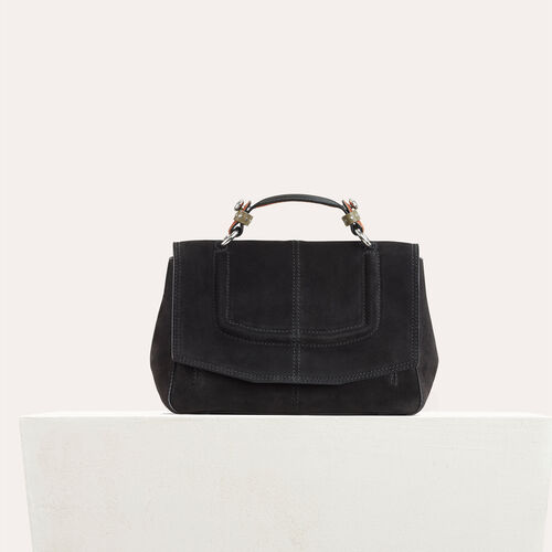Sac mini-cartable en daim bicolore : -50% couleur Black
