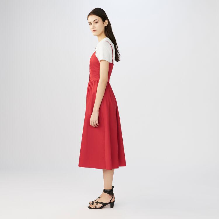 Robe longue avec crop top : Robes couleur ROUGE