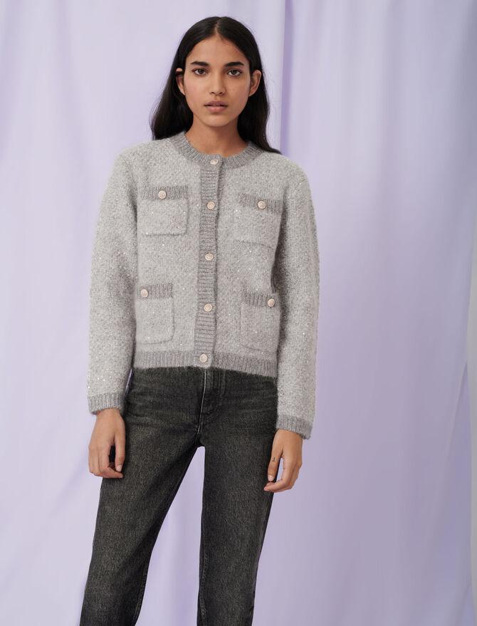 Lurex cardigan - Pullovers & Cardigans - MAJE