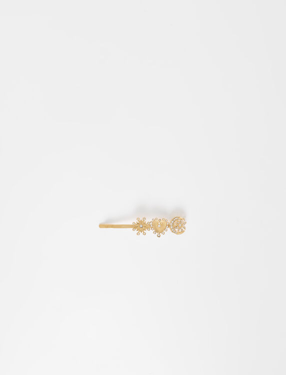 Barrette dorée à charms - Bijoux - MAJE