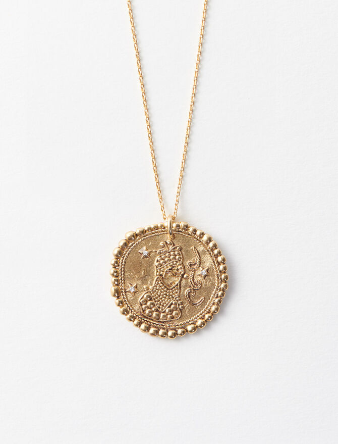 Virgo zodiac sign necklace -  - MAJE