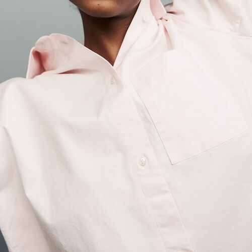 Oversized denim shirt : Shirts color Pale Pink