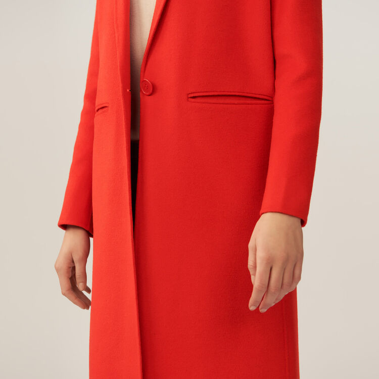 Manteau long double face : Manteaux couleur Orange
