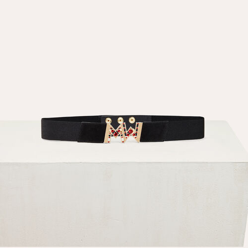Wide elasticated belt : Belts color Black 210