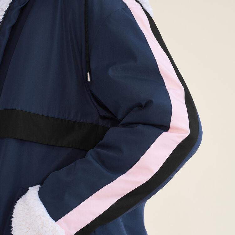 Parka courte bicolore : Blousons & Vestes couleur Marine