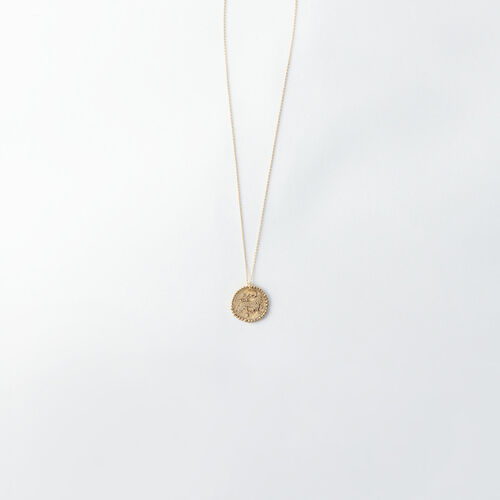 Lion zodiac sign necklace : All accessories color Old Brass
