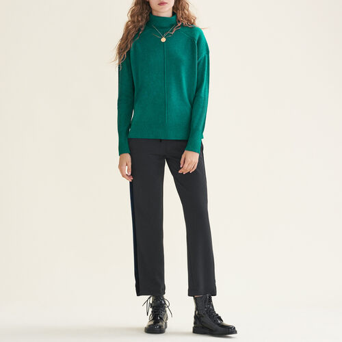 Cashmere roll-neck jumper : Sweaters & Cardigans color Ecru