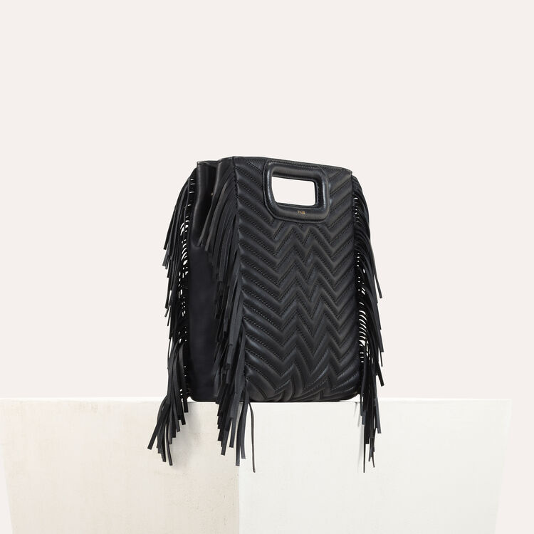 Quilted leather M bag : M bag color Black