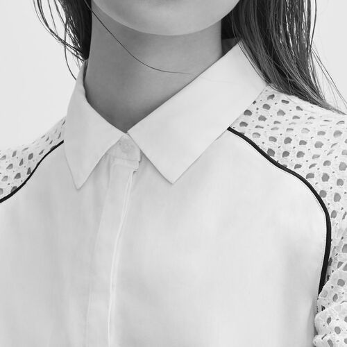 Shirt with lace - Tops - MAJE