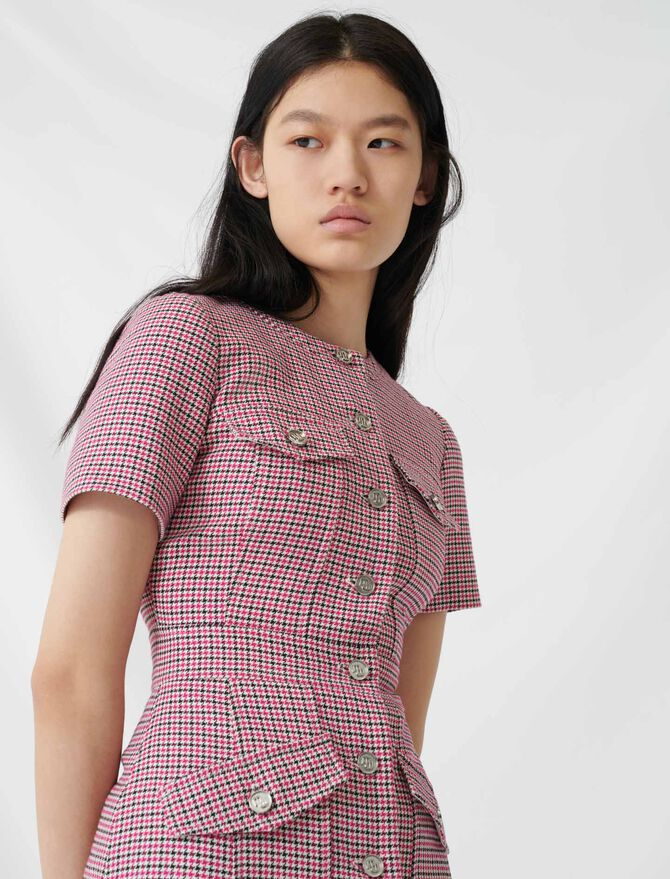 Fitted checked mini dress - All the collection - MAJE