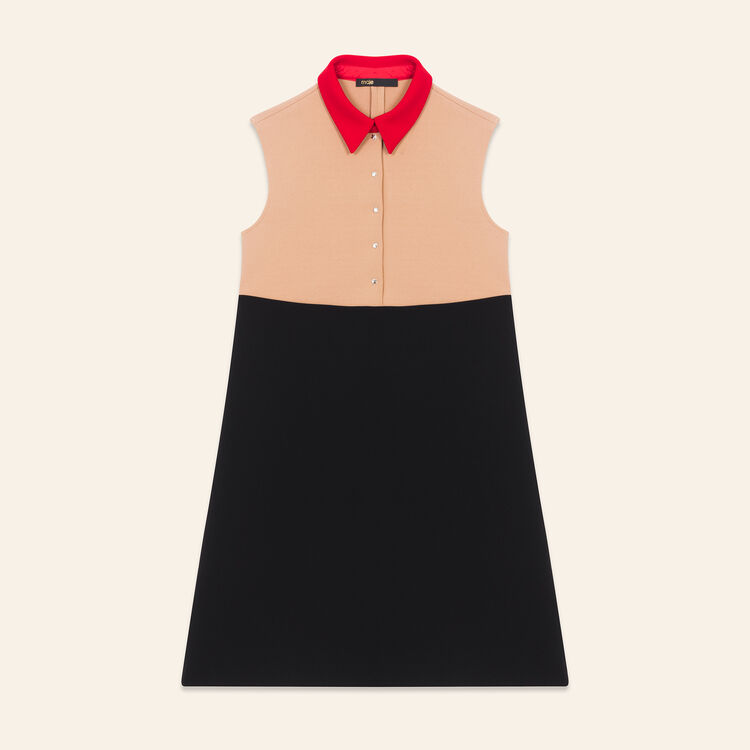 Robe trapèze tricolore : Robes couleur MULTICO