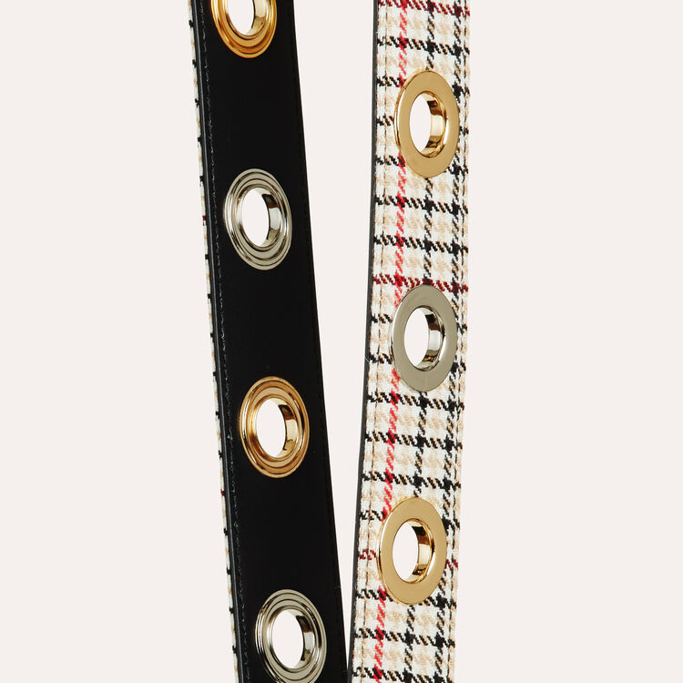 Bandoulière en cuir textile jacquard : Tout voir couleur Beige