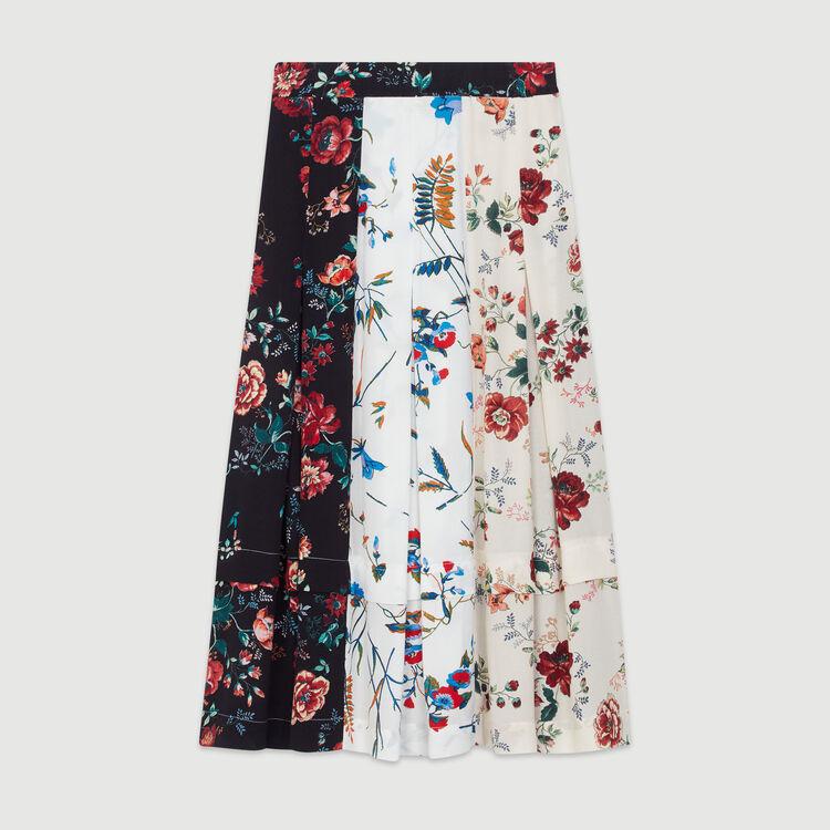 Midi skirt with pin print : Skirts & Shorts color Print