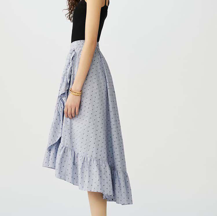 Jupe longue rayée à volants : Jupes & Shorts couleur Rayure
