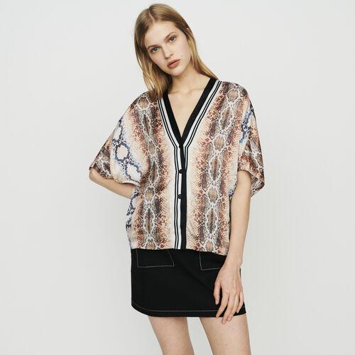 Shirt with python print : Tops color PRINTED