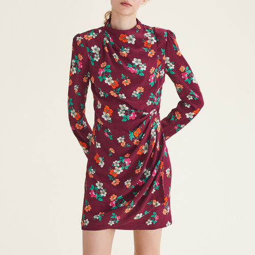 Printed wrapover dress : Dresses color Print