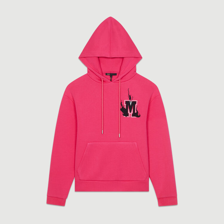 Sweat-shirt oversize à capuche : Nouvelle Collection couleur Fushia