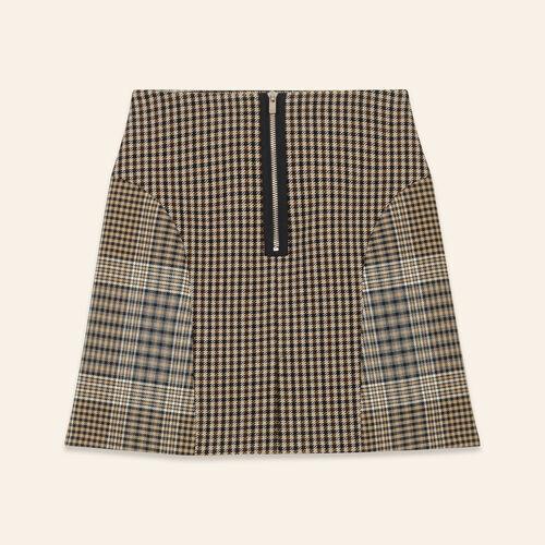 Jupe à carreaux : Jupes & Shorts couleur JACQUARD
