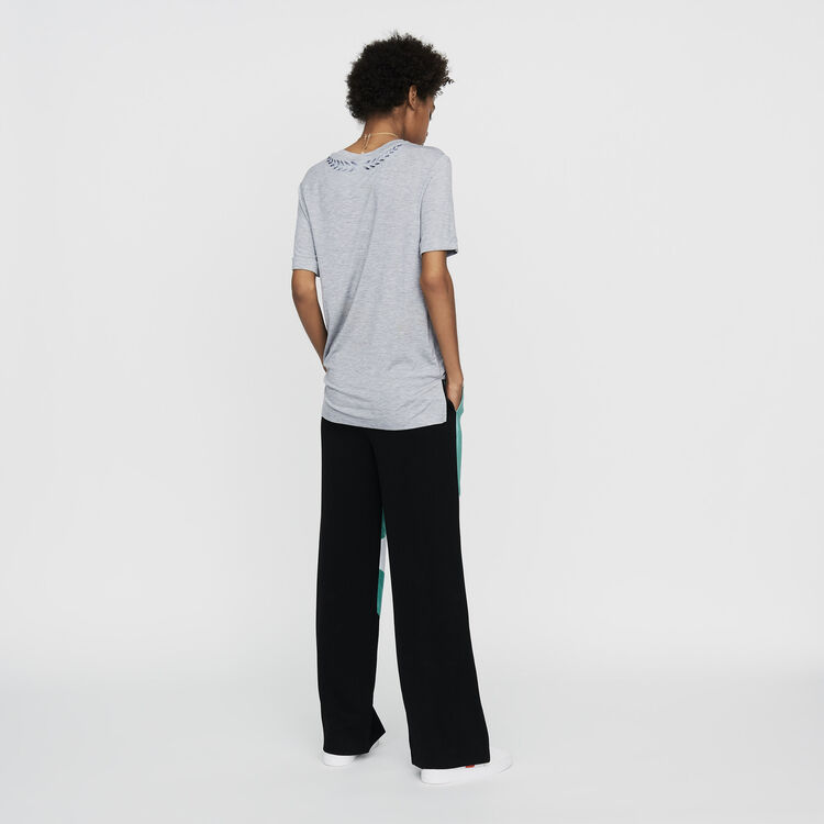Tee-shirt avec broderie : Nouvelle Collection couleur Gris