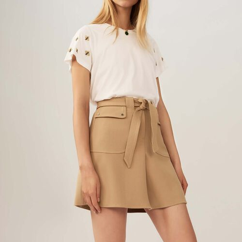 Skirt with tie belt - Pre-collection - MAJE