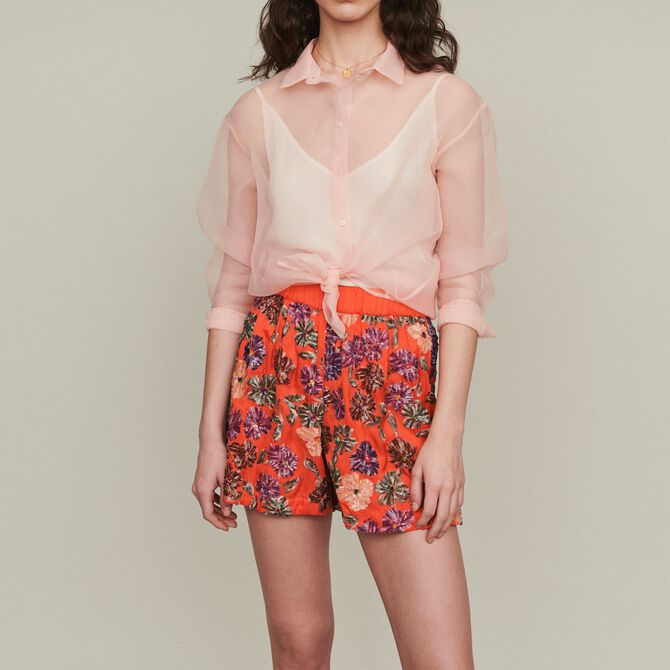 Shorts with sequin embroidery - See all - MAJE