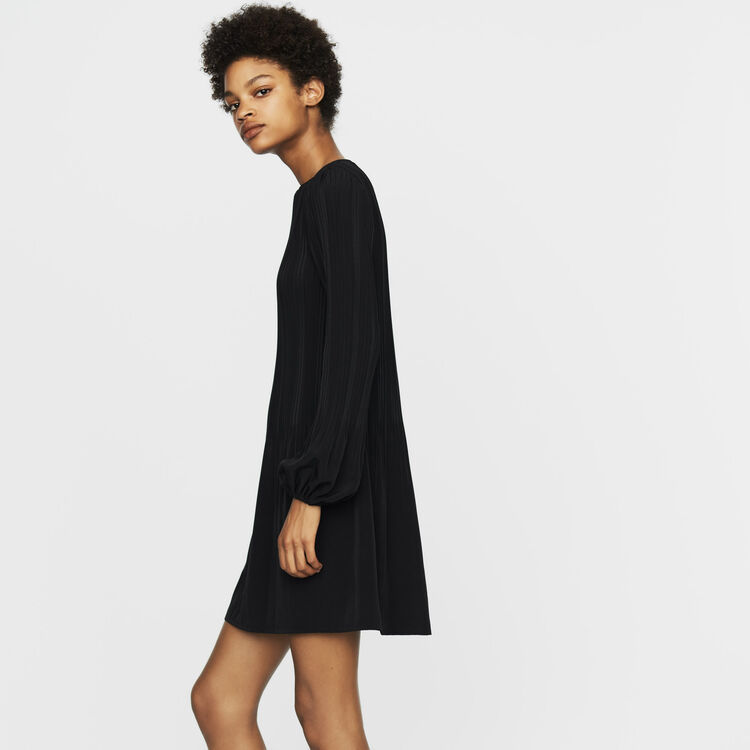 Robe plissée  : Robes couleur Black