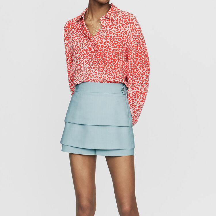 Short trompe-l'œil : Jupes & Shorts couleur Bleu Ciel