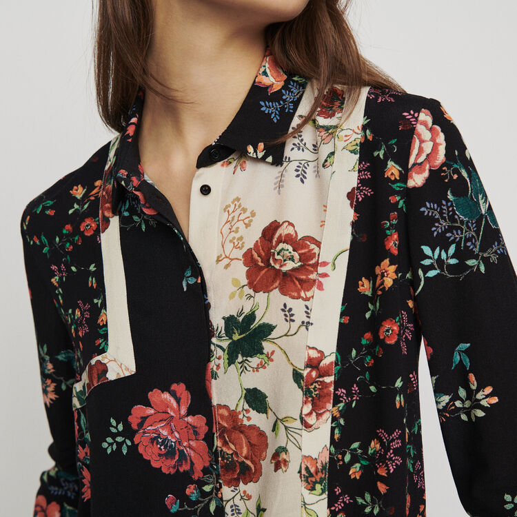 Patchwork print shirt : Tops & Shirts color Printed