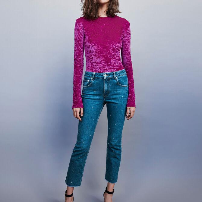 Strass-covered jean - Midseason-Sales_ALL_DE - MAJE