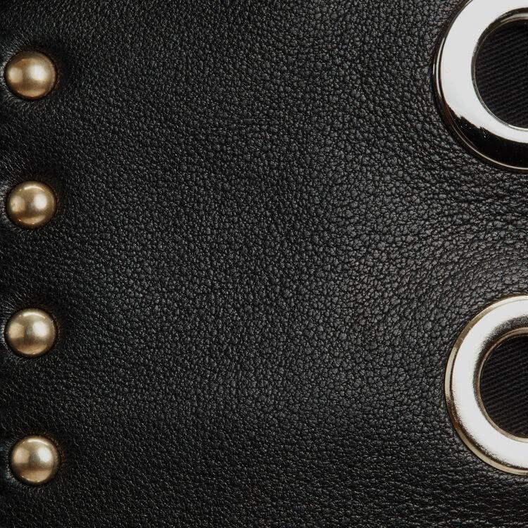 Sac M en cuir et studs : Sac M couleur Black